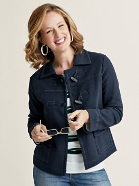 Topstitch Toggle Jacket