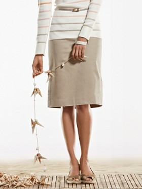 Stretch Twill Taylor Slim Skirt