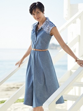 Chambray June Dress