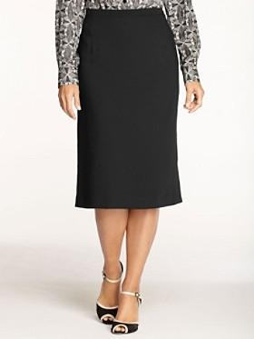 Travel Tricotine Slim Slit Skirt