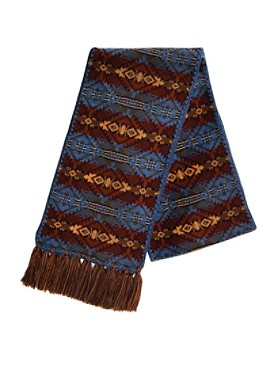 Fringed Knit Scarf