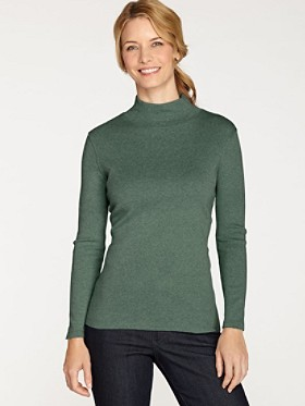 Long-sleeve Mockneck Tee