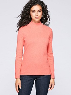 Long-sleeve Mock-neck Tee
