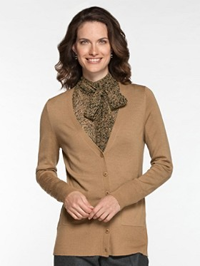 Superfine Merino V-neck Cardigan