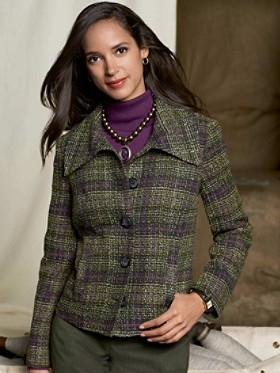 Dahlia Tweeded Plaid Jacket
