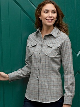 Tattersall Plaid Fitted Shirt