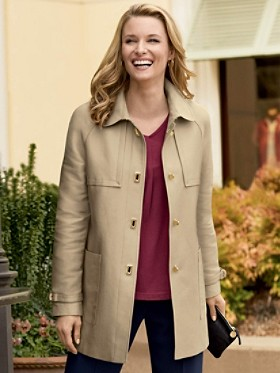 Water-resistant Swing Coat
