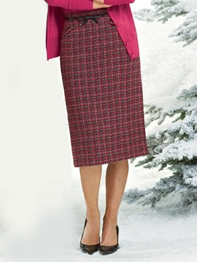 Trina Tweed Slim Skirt