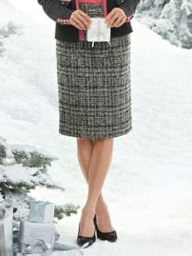 Boucle Wool Pencil Skirt