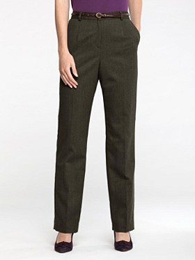Stretch Worsted Wool True Fit Trousers