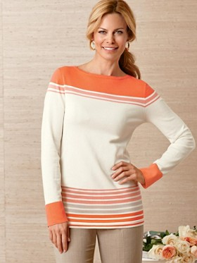 Sunset Stripe Pullover