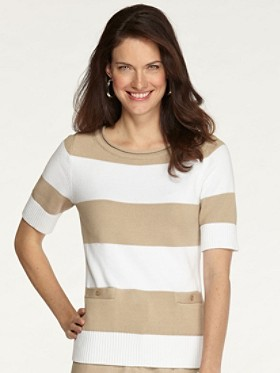 Two Stripe Pullover Sweater