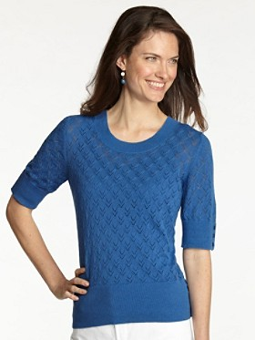 Short-sleeve Button Pullover Sweater