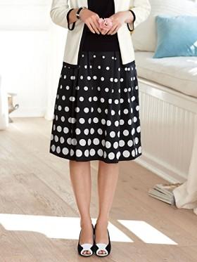 Dot Print Boulevard Skirt