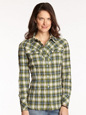 Rock Creek Plaid Crinkle Shirt