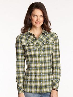 Rock Creek Plaid Crinkle Shirt