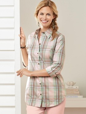 Pocket Change Plaid Tunic