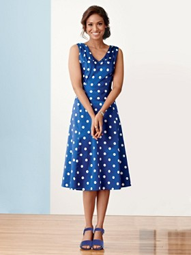 Polka Dot Pardise Print Dress