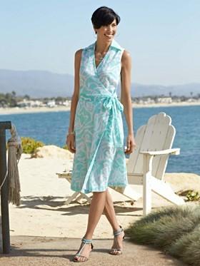 Ikat Print Vista Dress