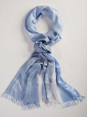 Watercolor Long Silk Scarf