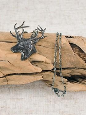 Bronze Elk Necklace