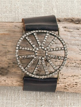Spider Web Leather Bracelet