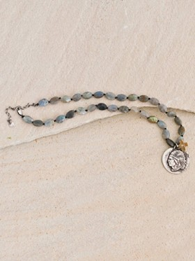 Labradorite And Silver Chief Necklace
