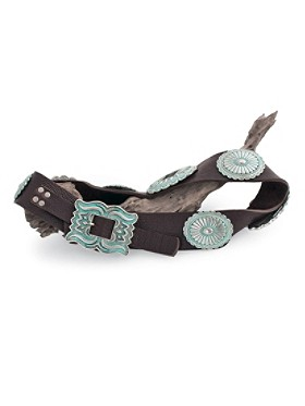 Flame Buckle Concho Belt