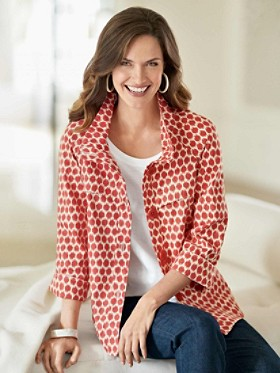 Splat Ikat Dot Jacket