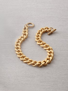 Bevel Gold Chain Necklace