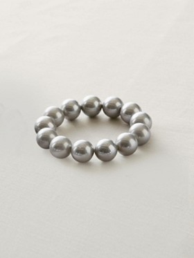 Seashell Pearl Stretch Bracelet