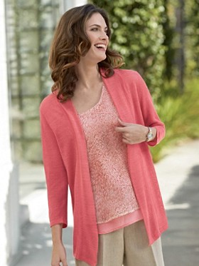 Button-back Cardigan