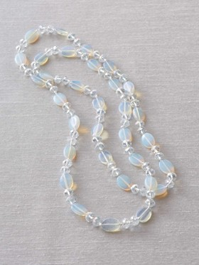 Opal Glass Necklace