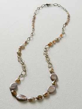 Agate And Seed Bead Necklace