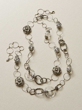 Long Circle Crystal Necklace