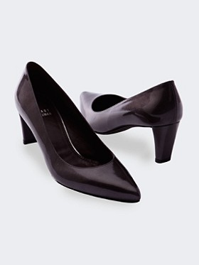 Patent Leather News Pumps