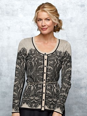 Midnight Lace Cardigan