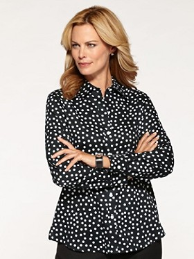 Random Dot Shaped Blouse