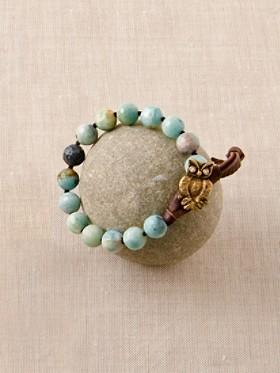 Amazonite/owl Bracelet
