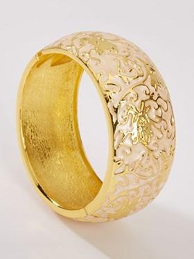 Gold-plated Floral Bracelet