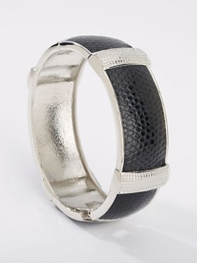 Faux Leather/metal Cuff