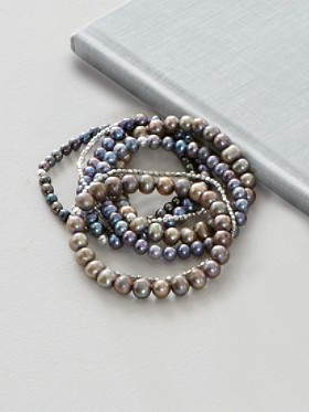 7-strand Stretch Pearl Bracelet Set