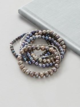 7-strand Stretch Pearl Bracelet Set