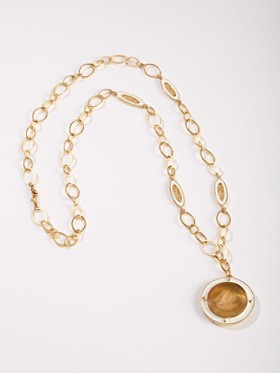 Butterscotch Intaglio Necklace