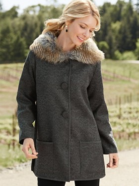 Sophia Faux Fur-trim Coat