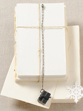 Reclaimed Leather Book Necklace