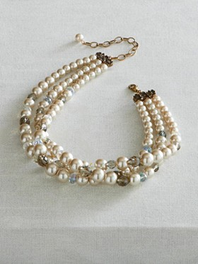 Glass Pearl Torsade Necklace