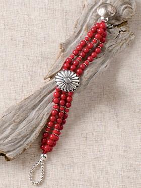Coral Concho Bracelet