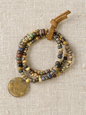Bronze Token Stretch Bracelet