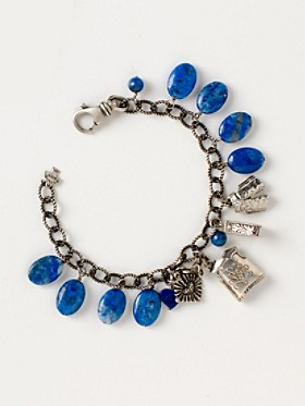 Sterling Cowboy Lapiz Charm Bracelet